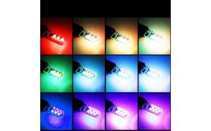 Set 2 Becuri LED T10 Auto Pozitie 6 SMD,