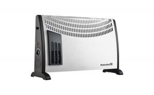 Convector electric podea/perete Hausberg HB 8191, 2000 W, 3 niveluri de putere, termostat reglabil + Tocator din sticla cadou