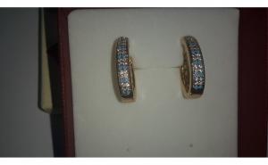 Cercei Luxury Turcoaze, aur 18K