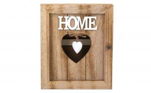 Suport pentru chei din lemn, love home, 6 agatatori, 21 x 6 x 26 cm