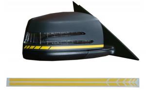 Stickere Oglinzi Laterale Galben Mat compatibil cu MERCEDES Benz Coupe C238 A B C E S Class CLA GLA CLS GLK W246 W204 W176 W117 W212 W207 W218 X156 X2