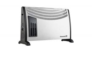 Convector electric de podea Hausberg HB-8190, 2000W, turbo, 3 trepte de putere, termostat reglabil, Alb + Tocator din sticla cadou