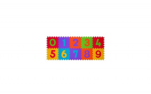 Covoras puzzle cifre 10 piese din spuma