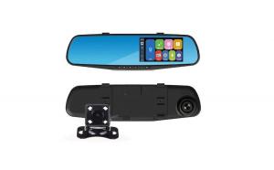 Camera masina DVR Dual Fata-Spate, tip oglinda retrovizoare