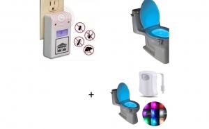 Aparatul anti-insecte + Cadou Lampa LED pentru WC, cu senzor miscare