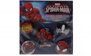 Set 5 insigne ORIGINALE Spiderman, la doar 49 RON redus de la 100 RON