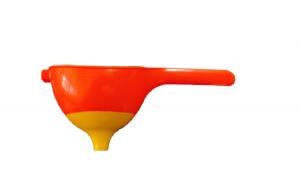 Palnie 2in1 pentru Strecurat Ulei, Ceai sau Lichide, Sita Deasa, Plastic PVC, Portocaliu, Original Deals