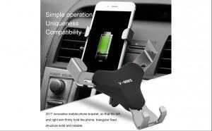 Suport auto universal pentru telefoane, cu prindere pe grila de aerisire a autoturismului