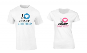 Set de tricouri albe Crazy Love COD ST514