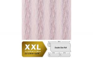 Tapet roz cu dungi su finisaj mat cu fundal stralucitor 675-93