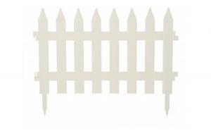 Gardulet clasic, plastic, alb , 320 x 35 cm, set 7 buc