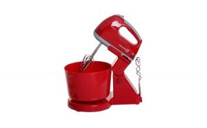 Mixer cu bol, 7 trepte de viteza, Hausberg HB 3505R, 250W, rosu