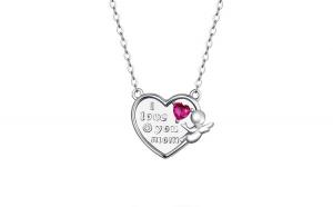 Colier argint Dragoste pentru Mama cu