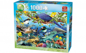 King Puzzle 1000 piese Animale tropicale
