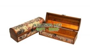 Cutie suport din lemn