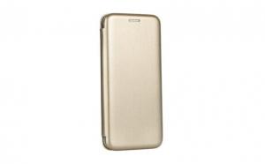 Husa protectie carte pentru iPhone 6 / 6S, piele ecologica Aurie