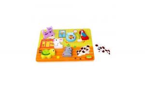 Puzzle lemn, animale,Tooky Toy,TKC480