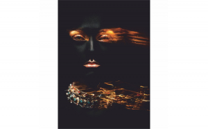 Tablou Canvas Glamour Woman, 50 x 70 cm, 100% Bumbac