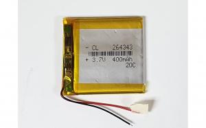 264343 - Acumulator Li-Polymer - 3,7 V - 400mah - 43x43x2.6 mm