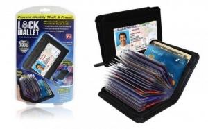 Portofel Lock Wallet impotriva scanarii cardurilor! Garantie 12 luni!