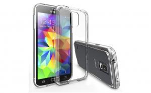 Husa slim silicon Samsung Galaxy S5 Transparenta