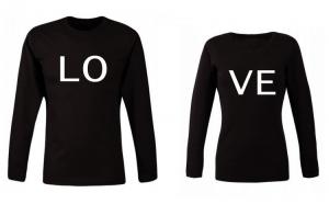 Set bluze negre pentru cuplu LO VE  COD