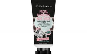 Mască de față Petite Maison Charcoal Mud, 80 ml