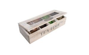 Cutie vintage pentru ceai din lemn 12x30x7cm, la doar 49 RON in loc de 99 RON