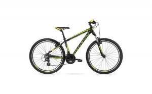 "Bicicleta KROSS Hexagon 2.0 V-brake 27.5"" negru/galben M"