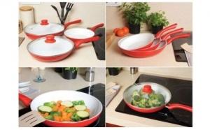 Set 5 tigai neaderente Ceramic Pan, la 135 RON in loc de 270 RON