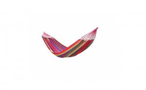 Hamac multicolor cu bara de lemn