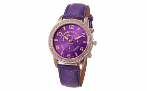 Ceas Dama Geneva Purple Leather