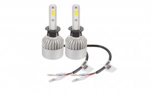 Set 2 leduri H1 pentru far auto putere 72W, Luminozitate 8000 Lm pe set, 12V-24V