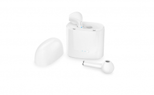Casti Bluetooth, I7s TWS, Handsfree Albe fara fir bluetooth 4.2 cu stand de incarcare