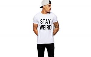 Tricou alb barbati - Stay Wired