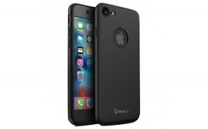 Husa Apple iPhone 7 IPAKY Full Cover 360 Negru + Folie Cadou