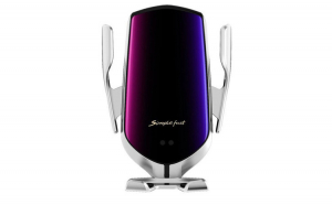 Incarcator Wireless Auto universal, cu Senzor inteligent, suport SMART Fast Charger 10W, clema prindere ventilatie