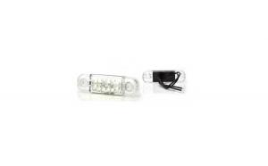 Lampa gabarit ovala Slim cu 12 LED -Alb W97.3 716