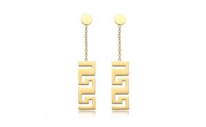 Cercei placati cu aur de 14K, model Versace