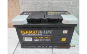 Baterie auto 85 Ah 760 A(EN) 12V Originala Renault 7711419085