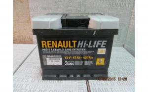 Baterie auto 47 Ah 420 A(EN) 12V Originala Renault 7711130087