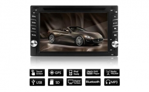 CD-DVD Player auto cu GPS, touchscreen, bluetooth, camera marsarier, control pe volan