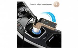 Modulator FM Hands Free A2DP G7, cu Buletooth