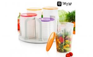 Set caserole din plastic- 49 Piese + CADOU dispozitiv curatare legume, la 109 RON in loc de 259 RON