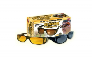 Set 2 perechi ochelari de zi si de noapte HD Vision cu protectie UV