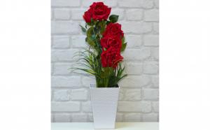 Trandafiri artificiali in ghiveci, Decoratiuni Casa