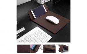 Mouse Pad din piele cu incarcare Wireless Qi