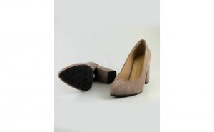 Pantofi stiletto comozi din piele naturala negru sidefat cu toc gros 10cm SPD512256