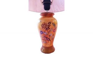 Veioza decorata cu flori si fluturi , 45