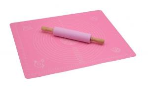 Set plansa din silicon pentru aluaturi si facalet, roz, silicon